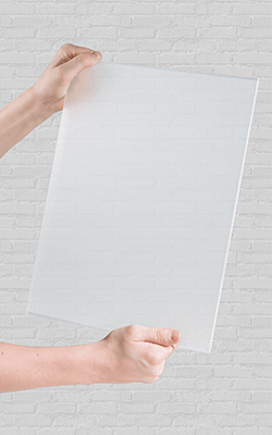 Half transparant plexiglas